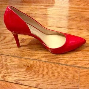 Red Jessica Simpson shoes. Sz 7 1/2 med.Worn once